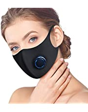 Dust Mask, Activated Carbon Dustproof Half face Mask with Airflow Valve for Exhaust Gas, Pollen Allergy, Flu Germs,PM2.5, Running, Cycling, Outdoor Activities for Women Men