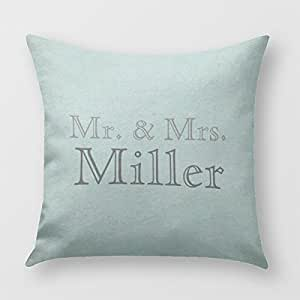 Customizable Mr. and Mrs. Pillow Cover for Sofa or Bedroom