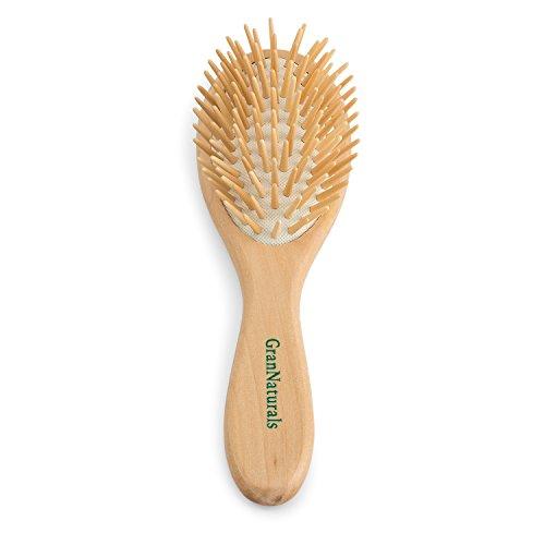 GranNaturals Detangling Wooden Bristle Oval Hair Brush   Length: 8.75