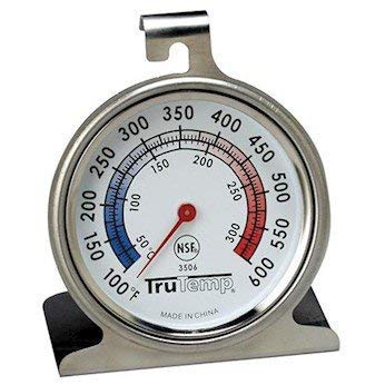 Cole Thermometer - Taylor 3506 TruTemp Series Oven/Grill Analog Dial Thermometer with Dual-Scale