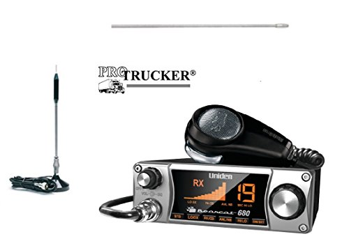 Pro Trucker CB Radio Kit Includes Bearcat 680, 24'' Center Loaded Copper Coil Stainless Steel CB Antenna & Pre-wired Super-Strong Magnetic Base by Pro Trucker