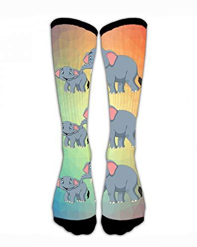SARA NELL Men & Women Classics Crew Socks Cartoon Happy Mother Baby Elephant.Jpg Thick Warm Cotton Crew Winter Socks Personalized Gift Socks -