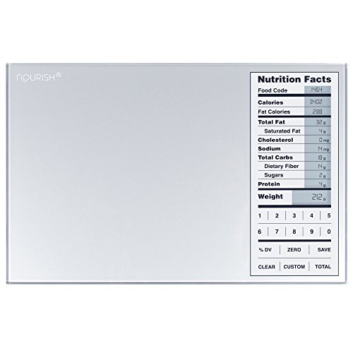 Greater Goods Nourish Digital Kitchen Food Scale and Portions Nutritional Facts (0.1 Ounce Diet Scales)