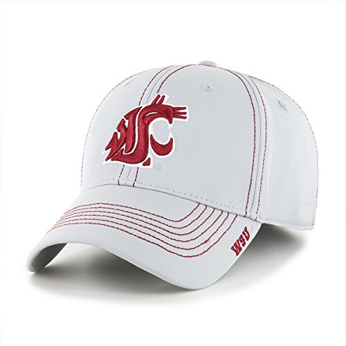 OTS NCAA Washington State Cougars Adult Start Line Center Stretch Fit Hat, Large/X-Large, Gray
