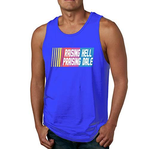 Moore Me Men's Sleeveless Tank Top Shirts Black Raising Hell Praising Dale Logo Cotton Gym Vest Casual Sport T-Shirts