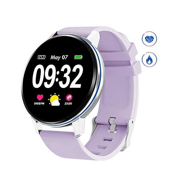 GOKOO Smart Watch for Women with Heart Rate Blood Pressure Sleep Monitor Waterproof...