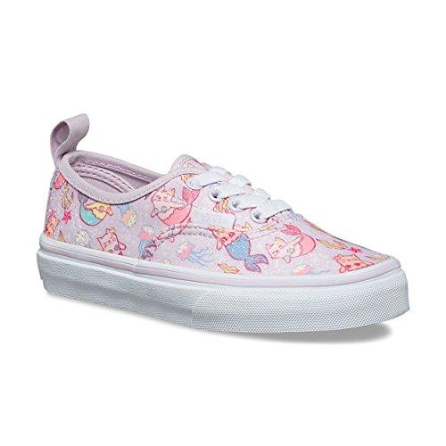 Vans Kids Authentic Elastic Lace (Purrrmaids) Lavender Fog/True White VN0A38H4U42 Kids Shoes
