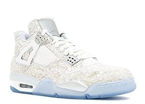 huge selection of 3563f 384cd ... Jordans Mens Retro 4 Laser White Metallic Silver Chrome. upc  888408148117 product image1