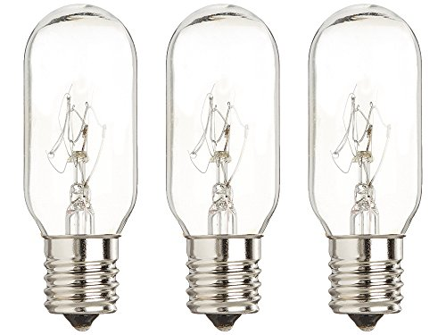 (40 Watt Microwave Bulb GE - Microwave Light - Fits Most GE and Whirlpool Ovens - E17 Intermediate Base Bulb - 40 Watt 130 Volt Appliance Bulb - 3 pack - GoodBulb)