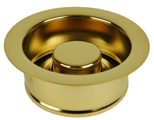 ISE Garbage Disposal Flange Drain Solid Brass with Stopper (Polished Brass) by PlumbUSA