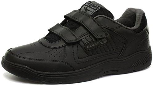 Gola Belmont Velcro WF Black Mens Wide Fit Sneakers, Size 44