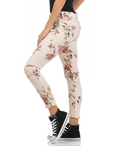 Jeans Stretch Look Distrutti A Vita Larghi Pocket Fidanzati Pantaloni Donna Newplay Bassa Fife Da Rosa nq0YA4wIwt