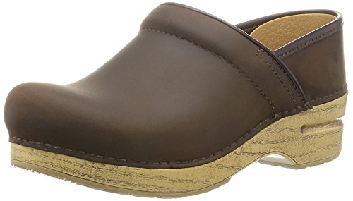 Dansko Women's Professional Antique Brown Oil Mule