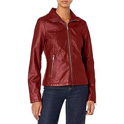 Kenneth Cole Women's Zip Front Faux Leather JKT at Women's Coats Shop
