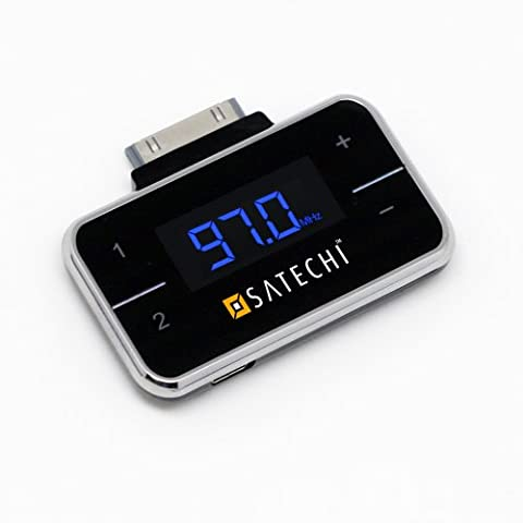 Satechi Wireless FM transmitter with LCD Display for AT&T and Verizon iPhone 4S, 4, 3GS, 3G, iPod Touch G1,G2,G3,G4, iPod Classic, iPod Nano G3, G4, (Iphone 4s Car Transmitter)