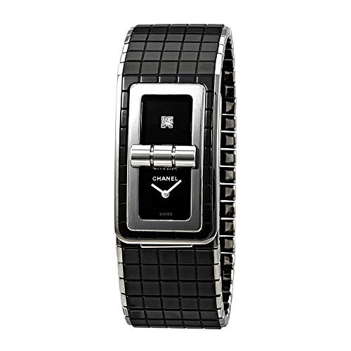 Ceramic Black Chanel Watch - Chanel Black Code Coco Black Diamond Dial Ladies Steel and Ceramic Watch H5147