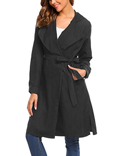 Black Trench Coat - 2