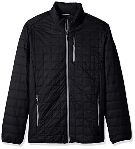 Cutter & Buck Men's Weather Resistant Primaloft Down Alternative Rainier Jacket, Black, 3X Tall from Cutter
