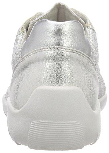 Scarpa Da Tennis Remonte Damen R3503 Silber (bianco-argento / Ghiaccio / Argento)