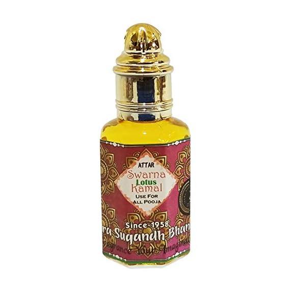 Indra Sugandh Swarna Kamal Lotus Perfume Attar 12 ML ~ Diwali Puja Special ~ Refine your senses ~ For Peace of mind ~ long lasting fragrance.