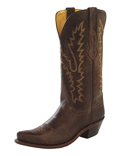 Old West Women's Distressed Leather Cowgirl Boot Snip Toe Dark Brown 10 M US