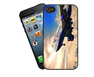 For Samsung Galaxy Note 4 Cover Vintage jet - black plastic case / Plane, aircraft, airplane