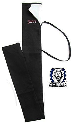 Nihontō Japanese Shihan TRAINING BOKKEN Sword Aikido Carry Case Japanese Samurai Sword Katana CLOTH Sword Bag Carrying Case Warriors Black