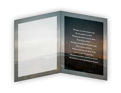 Funeral Memorial Service Thank You Cards & Envelopes (25 Count) (Lighthouse)