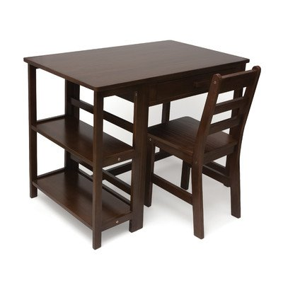 Lipper International 584WN Child's Work Station Desk and Chair, Walnut Finish by Lipper International