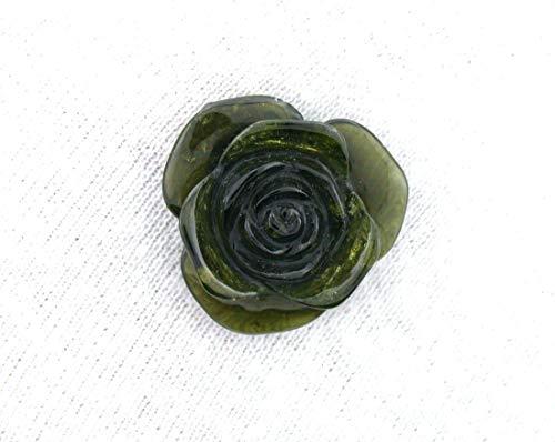 16.47 Carat Green Tourmaline Flower Carving Gem Stone Gemstone Natural ()