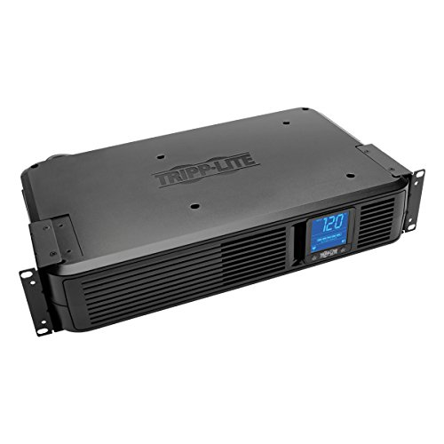 Tripp Lite 1200VA Smart UPS Battery Back Up, 700W Rack-Mount/Tower, 8 Outlets, LCD Display, AVR, USB, DB9 2URM (SMART1200LCD)