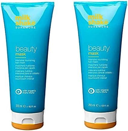 Milk Shake Sun & More, mascarilla para el pelo, Duo Pack, 2 unidades de 200 ml, mascarilla nutritiva intensa para el pelo profesional, 400 ml: Amazon.es: Belleza
