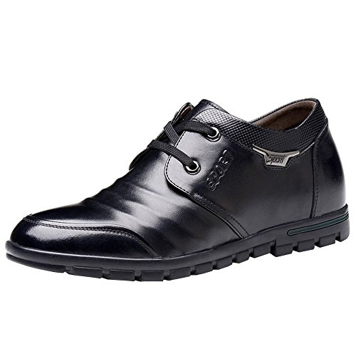 iMaySon(TM) Men's Fashionable Breathable Soft Height Increasing Shoes Business Leather Shoes (9.5 D(M) US,Black) (Howser Slide Keen compare prices)