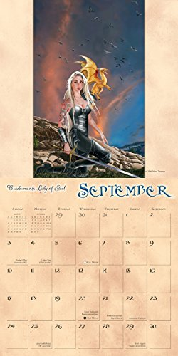 Calendar Mysteries May Magic : Dragon witches the art of nene thomas wall calendar