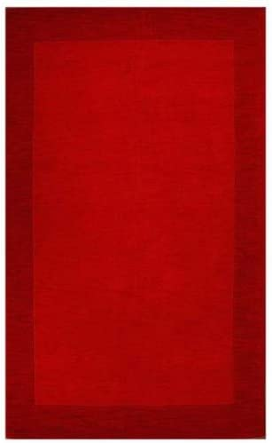 Loom Red Dark Red Rug Rug Size 5 x 8