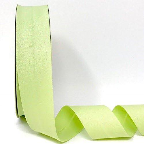Byetsa Cinta elástica para bies de 30 mm en rollo de 25 m (3% elastano/97% algodón), color verde pálido: Amazon.es: Hogar