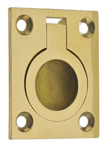 idh by St. Simons 25220-003 Professional Grade Quality Solid Brass Flush Ring Pull, ()