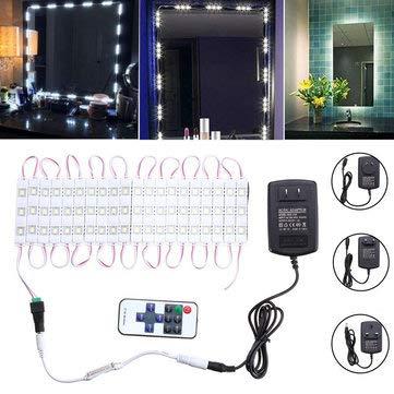 Waterproof SMD5630 LED White Mirror Makeup Module Strip + Remote Control AC110-240V - LED Strip LED Module Strip - (US plug) - 1X LED Copper Wire String Fairy -