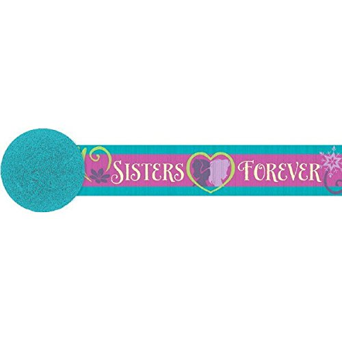 Disney Frozen Teal and Violet Streamer Birthday Party Decorations (1 Piece), Teal/Violet, (Frozen Halloween Ideas)