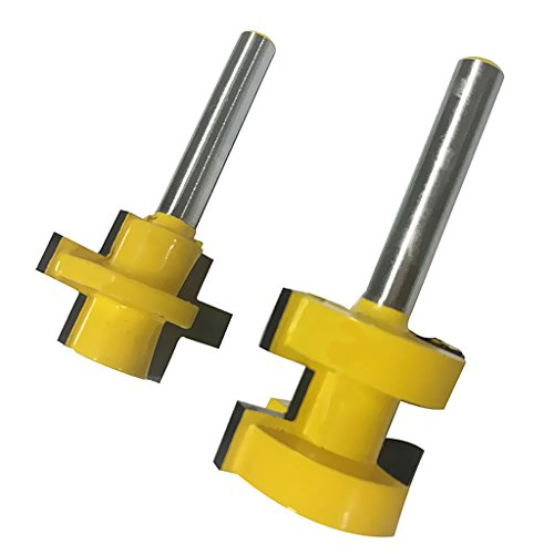 (Almencla Router Bit Set For WOODWORKING Rail And Stile Bits Ogee Router Bit Dovetail - Yellow, 4)