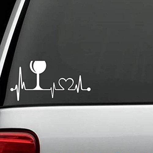 Price comparison product image K1013 Wine Glass Heartbeat Lifeline Monitor Screen Decal Sticker