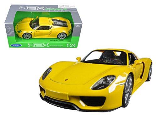 (Welly Porsche 918 Spyder Hardtop 1/24 Scale Diecast Model Car)