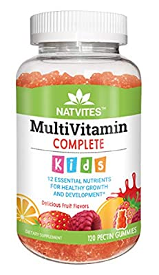 Natvites Multivitamin and Multimineral Pectin Gummies for Kids, 120 Count