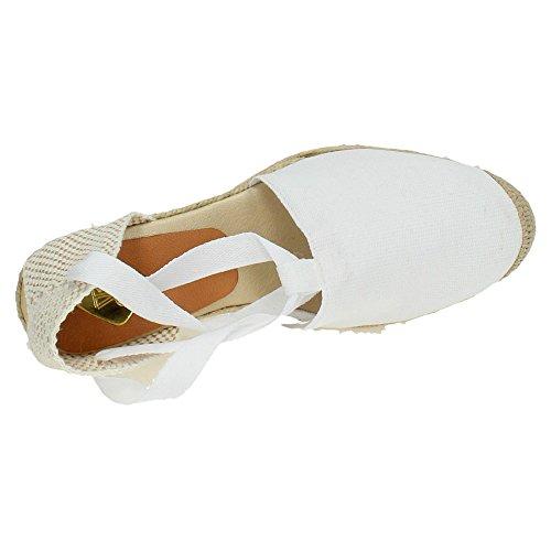 Torres Damen Espadrilles Weiß