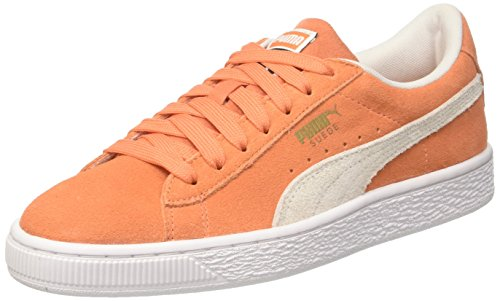 Puma Suede Classic Jr, Zapatillas Unisex Niños Naranja (Melon-puma White)