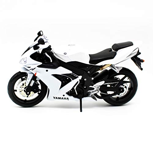 Motorcycle Model 1:12 Yamaha YZF-R1 Motorcycle Model Toy Car Collection Gifts Decorations Souvenirs (Color : White) ()