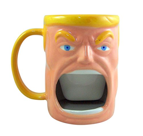 Donald Trump Coffee Mug with Big Mouth Cookie Holder, 10 Ounce