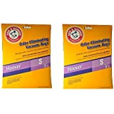 Hoover Type S Arm & Hammer Odor Eliminating Vacuum Bags #4010100S - (2 Packs of 3 = 6 Bags)