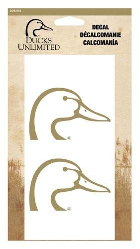 Ducks unlimited 4 duckhead decal gold