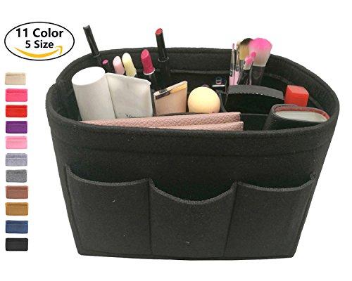 LEXSION Felt Handbag Organizer ,Insert purse organizer Fits Speedy Neverfull Black (Mm Black Handbag)